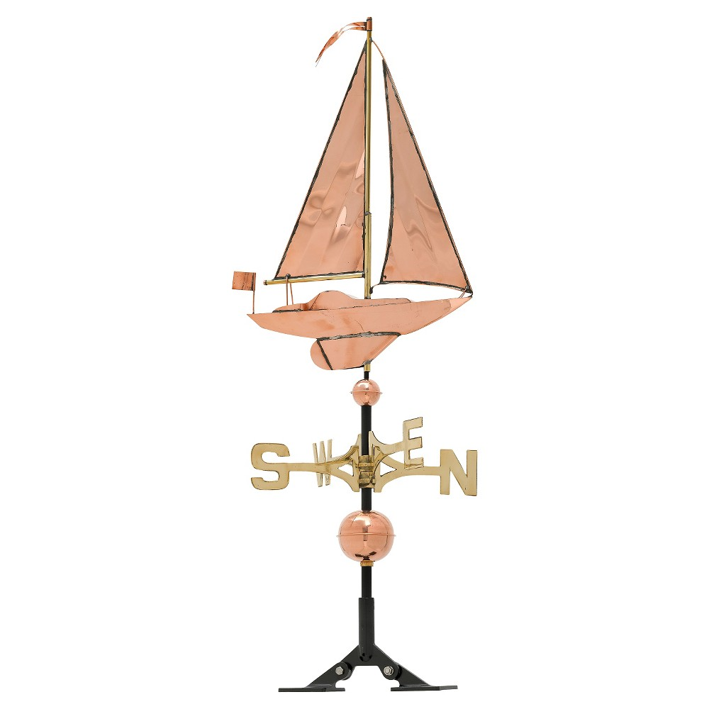 19 Sailboat Weathervane - Polished Copper - Whitehall Products