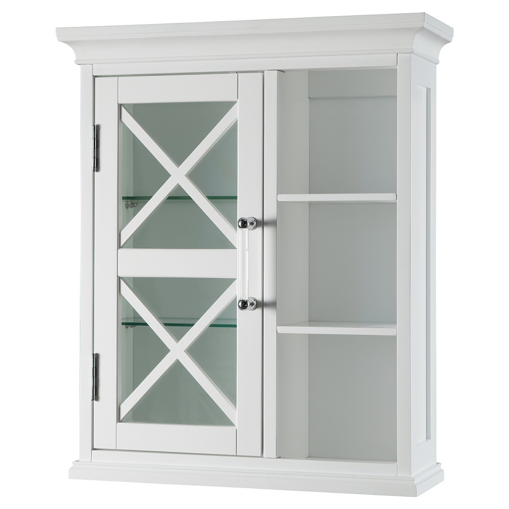 Wall Cabinet 24 White - Elegant Home Fashions