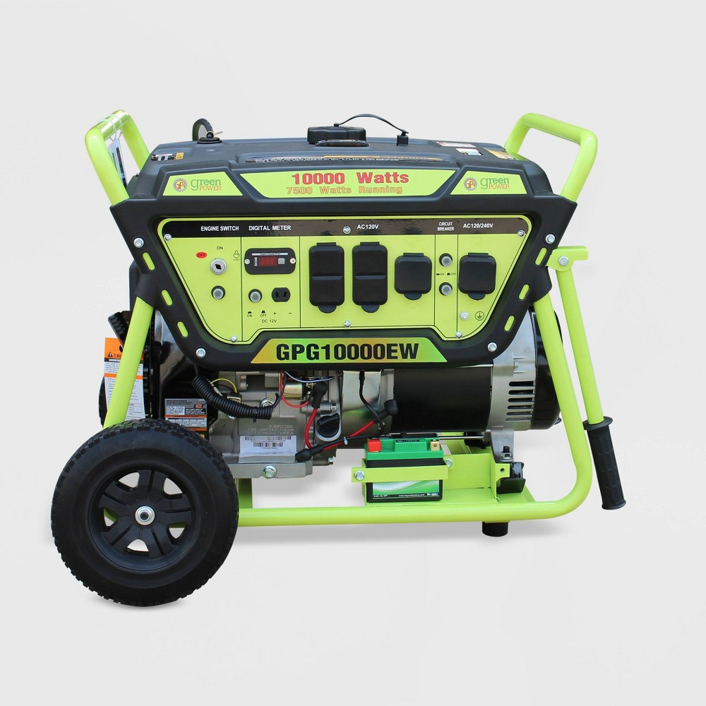 Image of 10000W Electric Start Generator Green - Green-Power