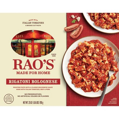 Rao's Made for Home All Natural Frozen Pasta Meal Rigatoni Bolognese - 25oz