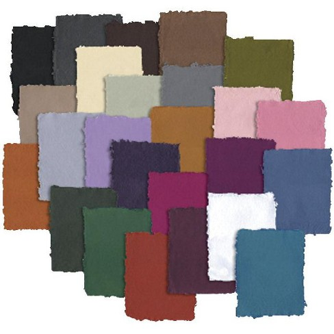 Shizen Design Handmade Pastel Paper, 8-1/2 x 11 Inches, Assorted Colors, 25 Sheets - image 1 of 1