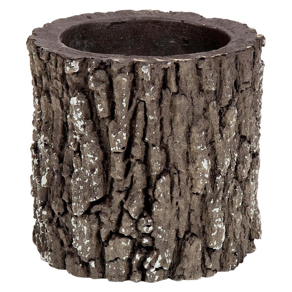"Image of ""6"""" Oak Log Planter - Brown - Nature Innovations"""
