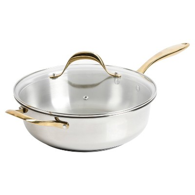 Cravings by Chrissy Teigen 5.8qt My Go To Stainless Steel Wok with Lid