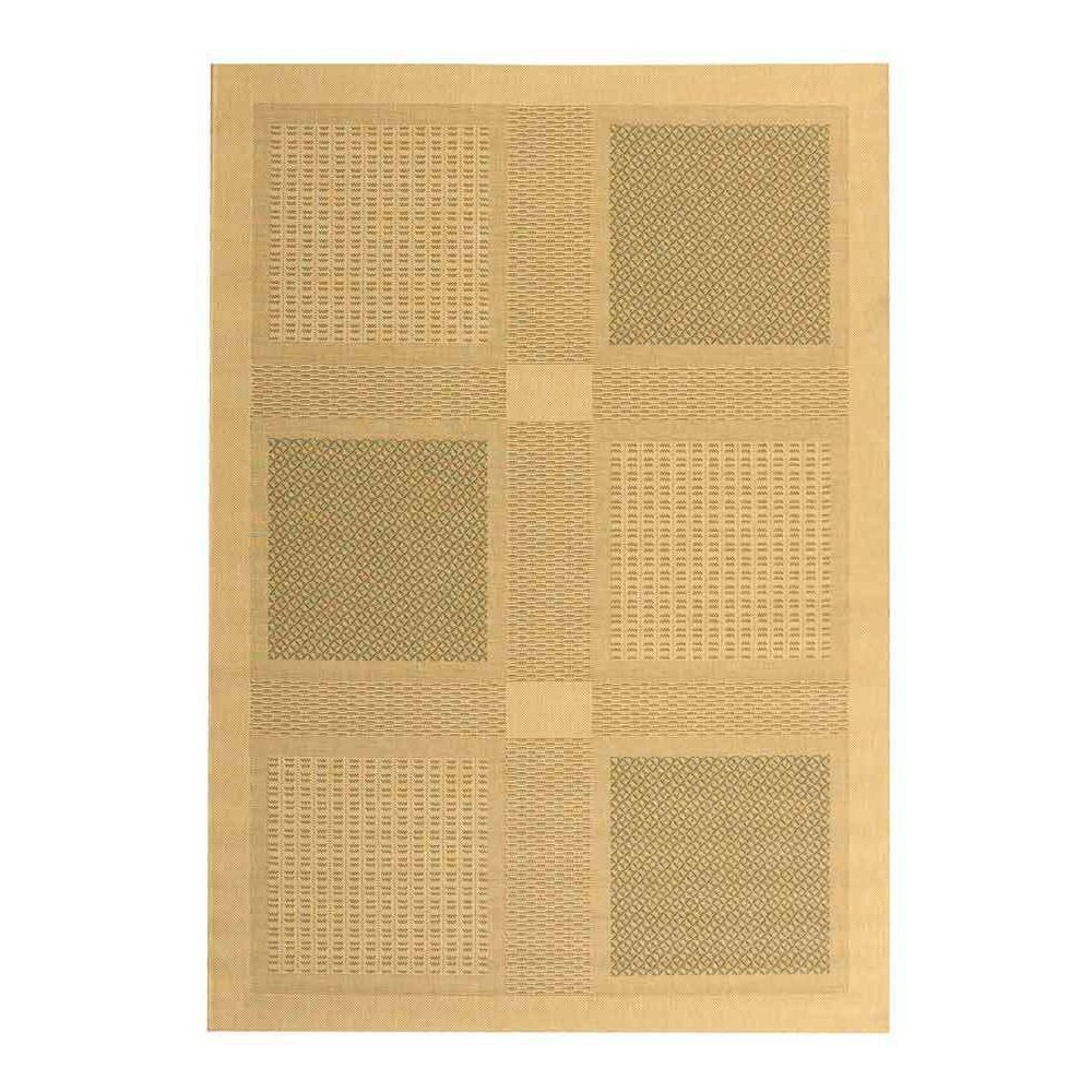 Montpellier Rectangle 8' X 11' Outdoor Rug - Natural / Olive - Safavieh, Natural/Green