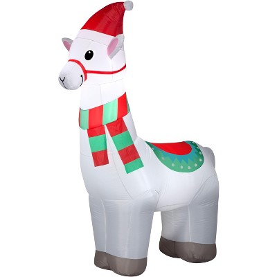 Gemmy Christmas Airblown Inflatable Alpaca , 6 ft Tall, white