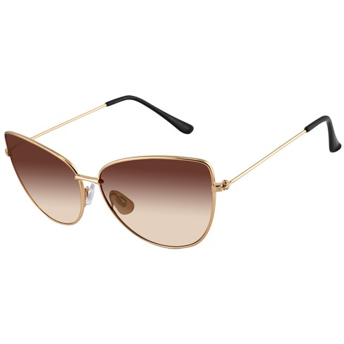 a517df0ef2 Women s Metal Cateye Sunglasses - A New Day™ Gold   Target