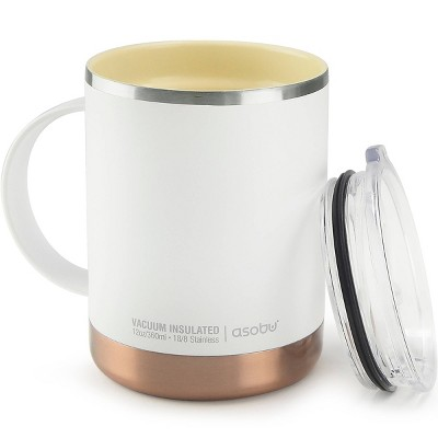 ASOBU Ultimate stainless steel coffee mug - White