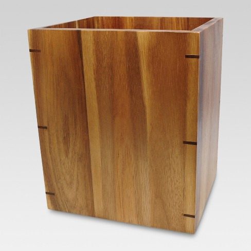 Wastebasket Medium Acacia Natural - Threshold™ - image 1 of 2