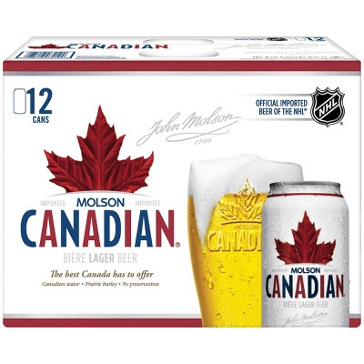Molson Canadian Lager Beer - 12pk/12 fl oz Cans