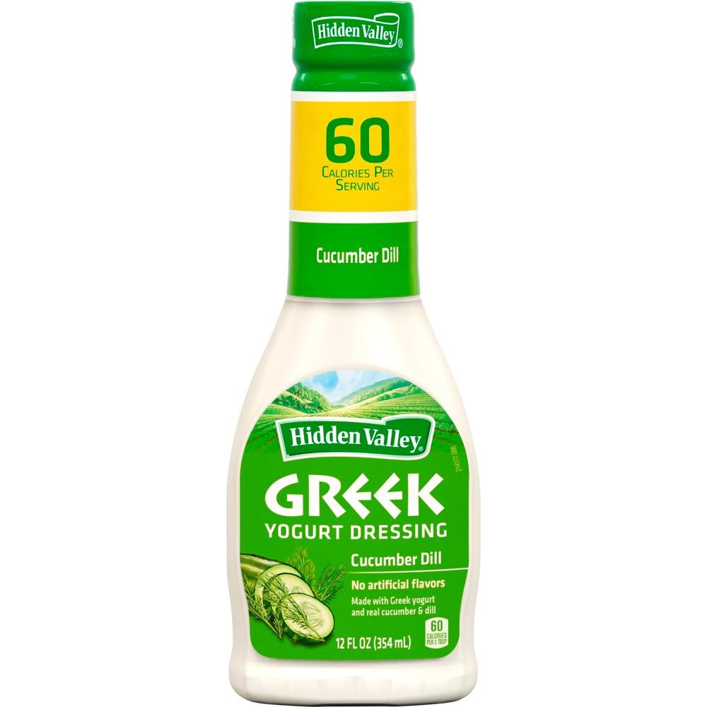 Hidden Valley Greek Yogurt Cucumber Dill Salad Dressing & Topping - Gluten Free - 12oz Bottle