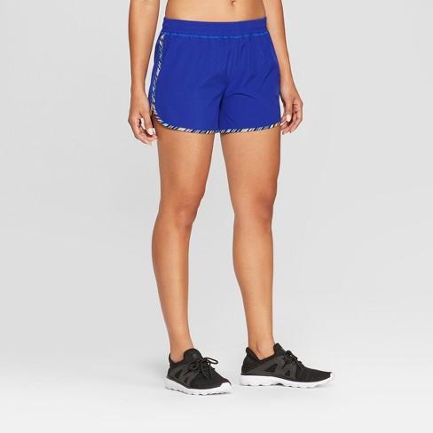 d639c20ecd6 Women s Striped Running Shorts - C9 Champion® Blue S   Target
