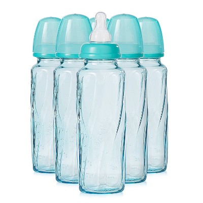Evenflo Vented + Glass Bottle - Teal 8oz 6pk