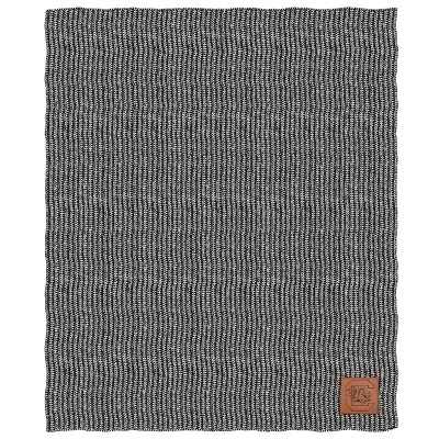NCAA South Carolina Gamecocks Two- Tone Sweater Knit Throw Blanket with Faux Leather Logo Patch