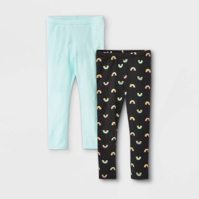 Toddler Girls' 2pk Rainbow & Sparkle Leggings - Cat & Jack™ Light Blue
