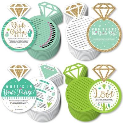 Big Dot of Happiness Final Fiesta - 4 Bridal Shower Games - 10 Cards Each - Gamerific Bundle