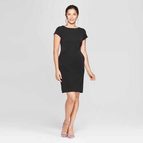 Women's Short Sleeve Bi-Stretch Twill Dress - A New Day™ - image 1 of 3