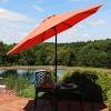 9' Aluminum Market Tilt Patio Fade-Resistant Umbrella - Burnt Orange - Sunnydaze Decor - image 3 of 4