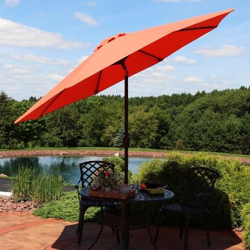9 Aluminum Market Tilt Patio Fade Resistant Umbrella
