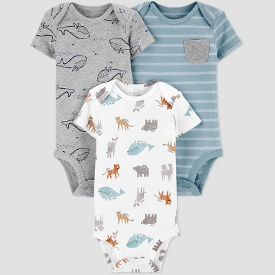 Baby Boys' 3pk Lion Bodysuit - little planet organic by carter's Green 9M