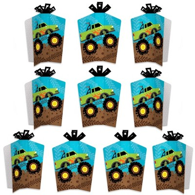 Big Dot of Happiness Smash and Crash - Monster Truck - Table Decorations - Boy Birthday Party Fold and Flare Centerpieces - 10 Count