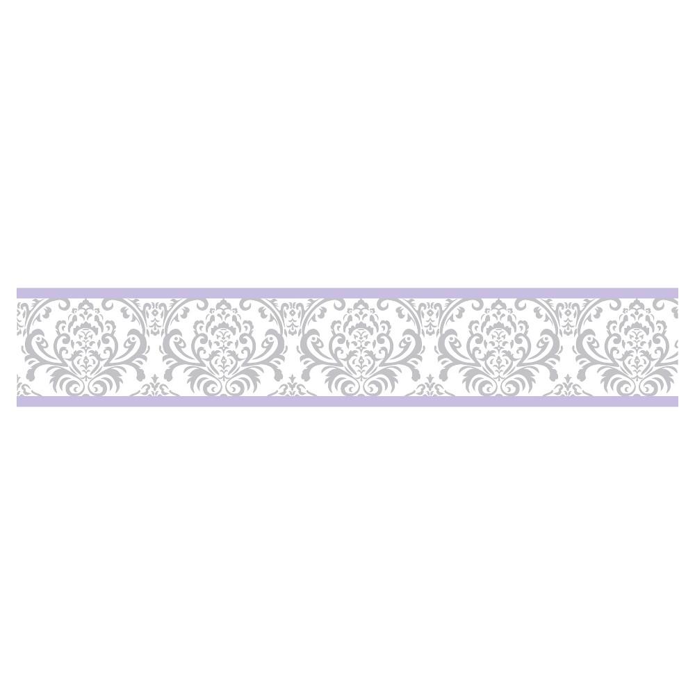 Image of Lavender & Gray Elizabeth Wall Border - Sweet Jojo Designs