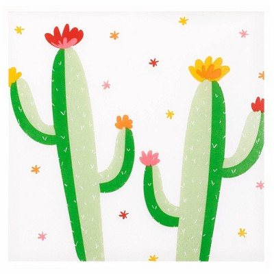 30ct Cactus Print Lunch Napkin - Spritz™