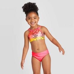 Toddler Girls' 3pc Mermaid Scale Shirt and Bikini Set - Cat & Jack™ Pink