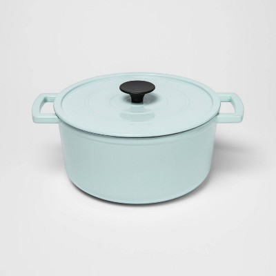 5qt Cast Iron Round Dutch Oven Light Blue - Threshold™