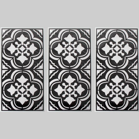 3pk 6pc Tile Decals Black - Bullseye's Playground™ - image 1 of 1