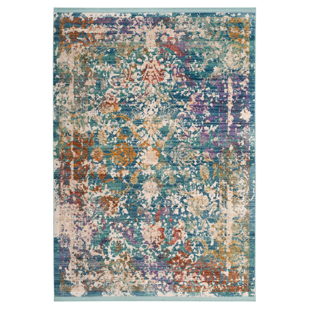 Turquoise/Lavender Geometric Loomed Accent Rug 4'X6' - Safavieh, Turquoise/Lavander