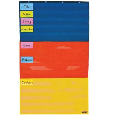 School Smart Adjustable Pocket Chart, 34 x 60 Inches