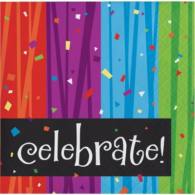 48ct Milestone Celebrations Beverage Napkins