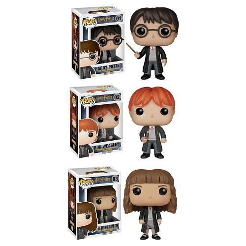 Funko Harry Potter Pop! Movie Vinyl Collectors Set: Harry Potter, Ron Weasley & Hermione
