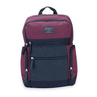 Eddie Bauer Side Pocket Back Pack Diaper Bag - Burgundy/Gray Flannel