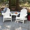 Hamilton 2pk Folding & Reclining Adirondack Chairs with 1 Adirondack Tete - A - Tete Connecting Table White - Highwood - image 3 of 3