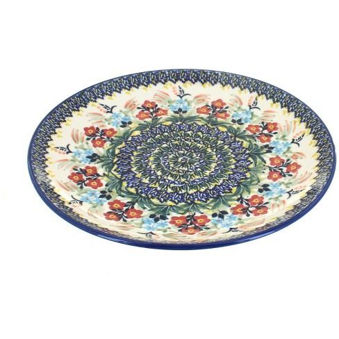 Blue Rose Polish Pottery Garden Field Dinner Plate - image 1 of 1
