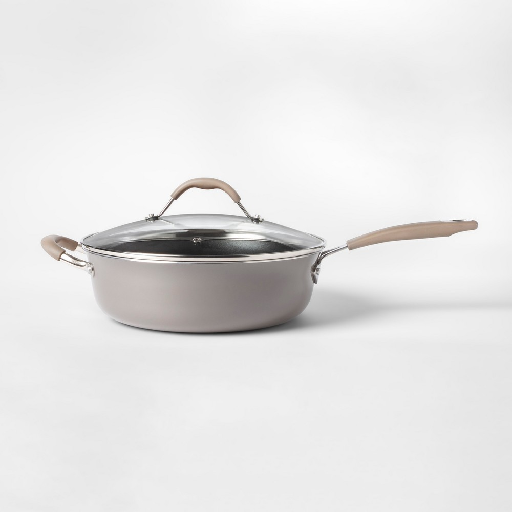 Cravings by Chrissy Teigen 4.5qt Saute Pan with Lid Gray