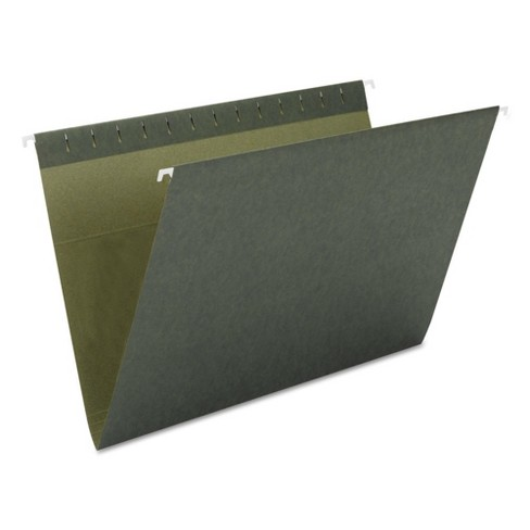 Smead® Hanging File Folders, Untabbed, 11 Point Stock, Letter- Green (25 per Box) - image 1 of 3