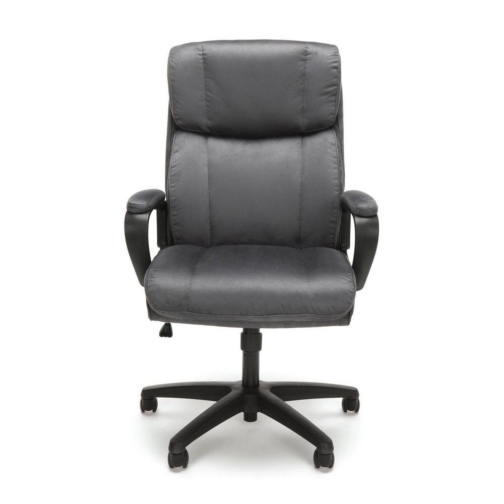 Plush High Back Microfiber Office Chair Gray - Ofm
