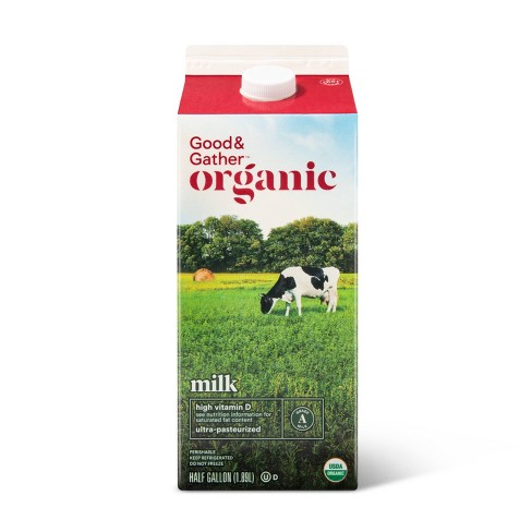 Organic Whole Milk - 0.5gal - Good & Gather™ - image 1 of 2