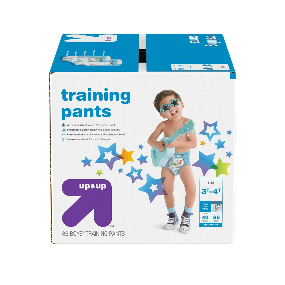 Boys 39 Training Pants 3t 4t 86ct Up 38 Up 8482
