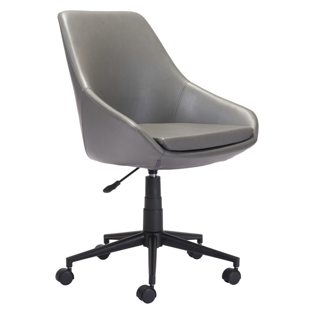 Modern Adjustable Office Chair Gray - ZM Home