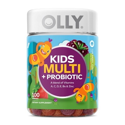 OLLY Kid's Multi + Probiotic Vitamin Gummies - Berry Punch