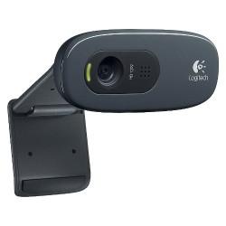 Logitech C270 3.0MP Webcam - Black (960-000694)