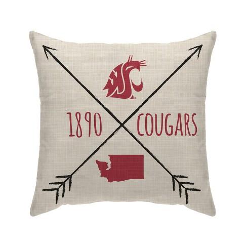 NCAA Washington State Cougars Cross Arrow Decorative Throw Pillow - image 1 of 2