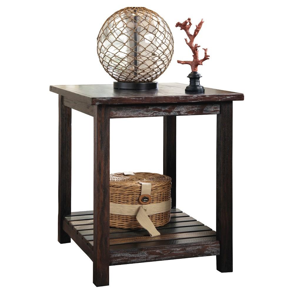 Mestler Rectangular End Table Rustic Brown - Signature Design by Ashley, Morel Brown