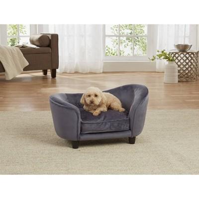 Enchanted Home Pet Ultra Plush Snuggle Pet Bed - Dark Gray