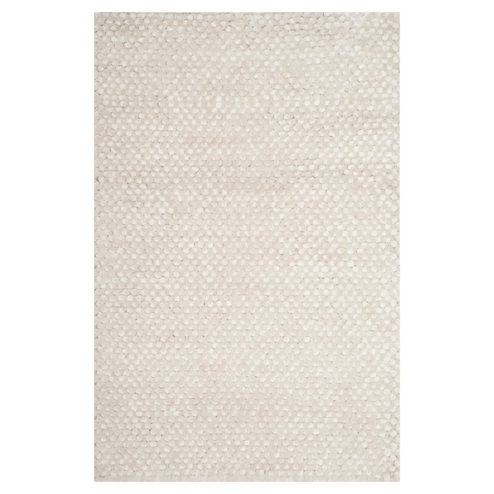 Snow White Solid Woven Area Rug 5'X8' - Safavieh