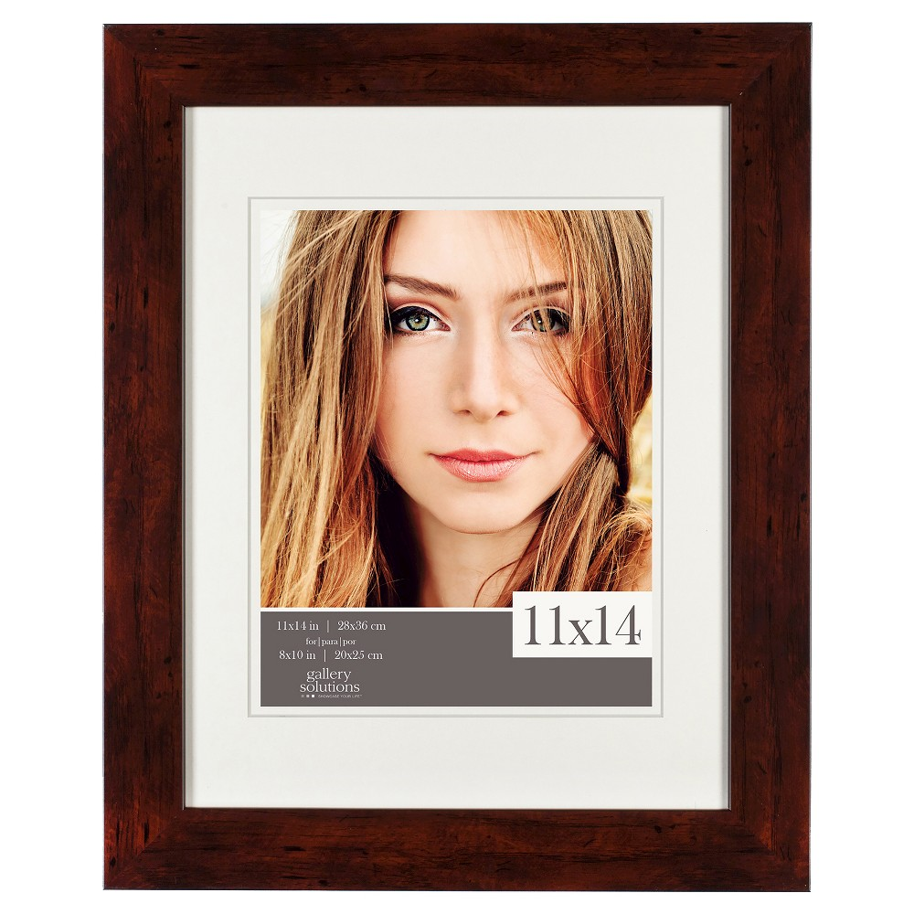 "Image of ""Gallery Solutions 11""""x14"""" Frame - Walnut (Brown)"""