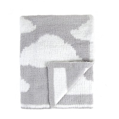 Tadpoles Ultra-Soft Chenille Knit Baby Blanket - Gray /White